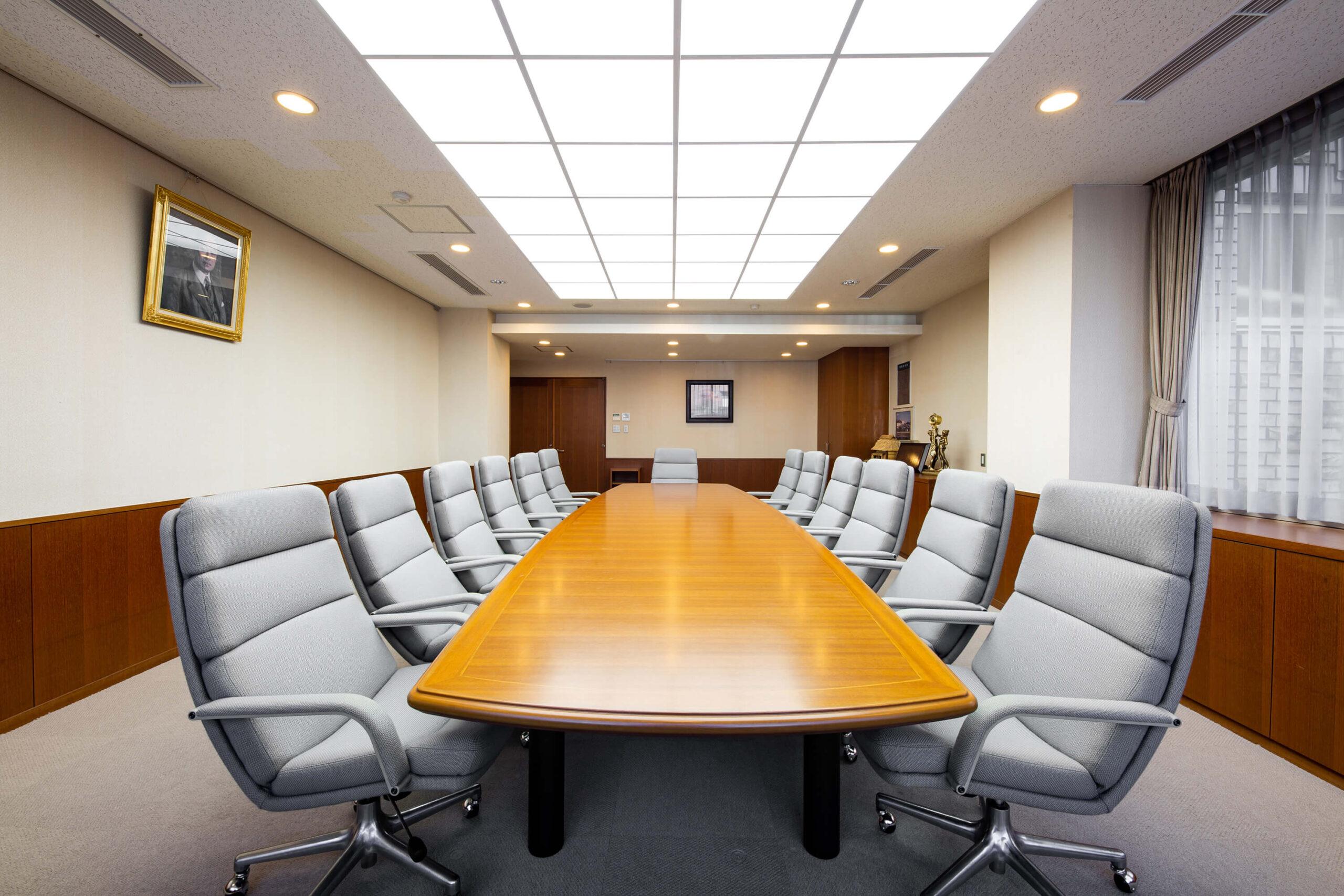 米山梅吉記念館内会議室の写真